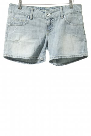 Guess Jeans Denim Shorts azure-natural white casual look