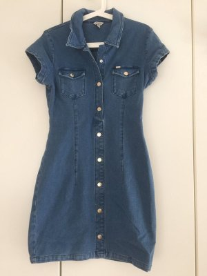 Guess Dress blue cotton