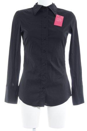 Guess Jeans Langarmhemd schwarz bezogene Knöpfe