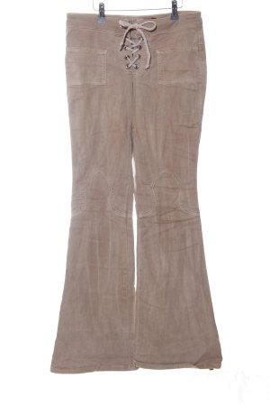 Guess Jeans Broek met wijd uitlopende pijpen bruin casual uitstraling