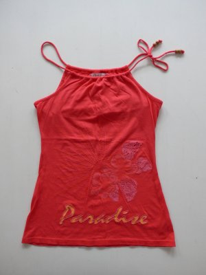 Guess Jeans Spaghetti Strap Top bright red