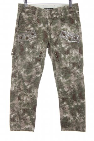 Guess Jeans Straight-Leg Jeans Camouflagemuster Military-Look