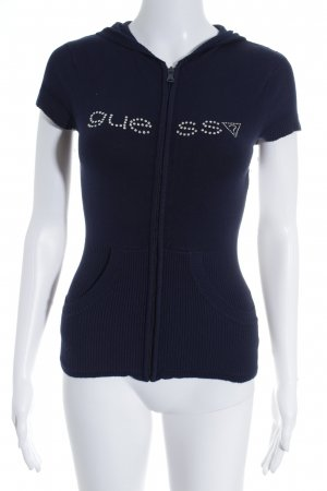Guess Jeans Strickweste dunkelblau Casual-Look