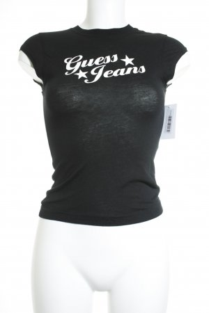 Guess Jeans T-Shirt schwarz Casual-Look