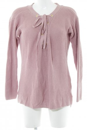 Guess Jeans V-Ausschnitt-Pullover pink Casual-Look