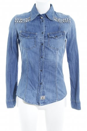 Guess Jeans blouse blauw casual uitstraling