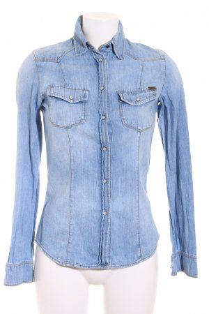 Guess Jeansbluse hellblau Casual-Look