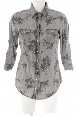 Guess Denim Shirt light grey-grey floral pattern casual look