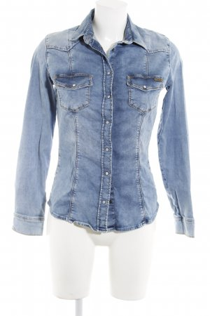Guess Chemise en jean bleu azur Aspect de jeans
