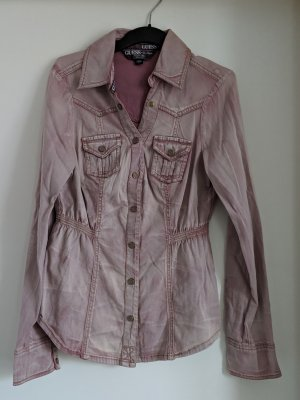 Guess Camicia denim rosa antico