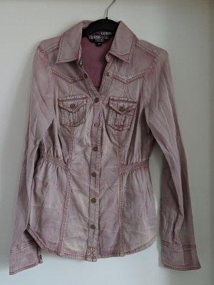 Guess Chemise en jean vieux rose