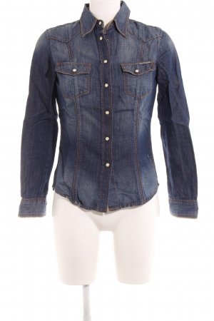 Guess Denim Shirt steel blue casual look