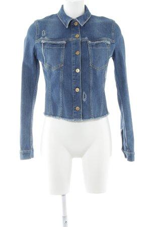 Guess Jeansjacke blau Jeans-Optik