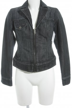 Guess Jeansjacke taupe-hellgrau meliert Casual-Look