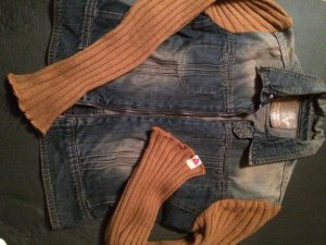 Guess Jeansjacke Used Look und Strick