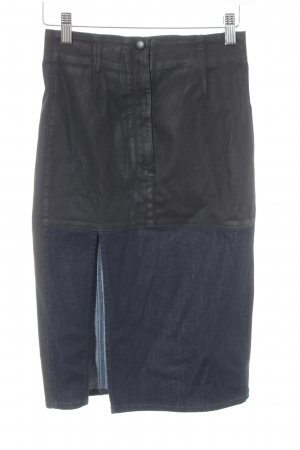 Guess Denim Skirt dark blue color blocking street-fashion look
