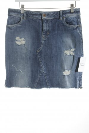 Guess Jeansrock dunkelblau Destroy-Optik