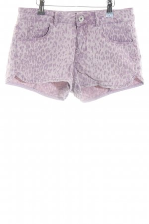 Guess Denim Shorts mauve leopard pattern casual look