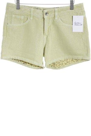 Guess Pantaloncino di jeans giallo chiaro con glitter
