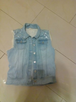 GUESS JeansWeste babyblau/,Swarowski