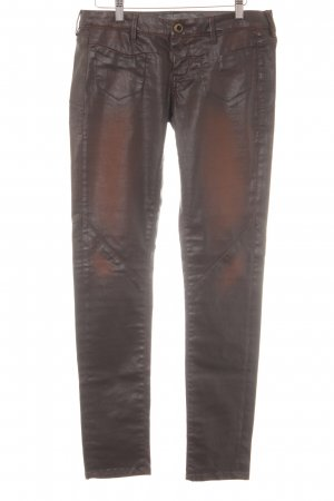 Guess Jeggings marrón oscuro look casual