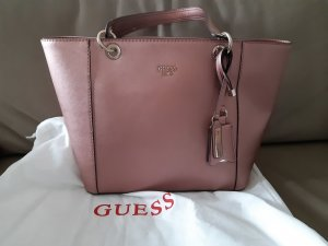 Guess Carry Bag silver-colored-rose-gold-coloured imitation leather