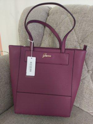 Guess Katri Shopper Neu Bordeaux gold weinrot Handtasche Schultertasche