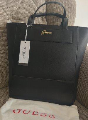 Guess Katri Shopper Tasche Schultertasche neu schwarz gold