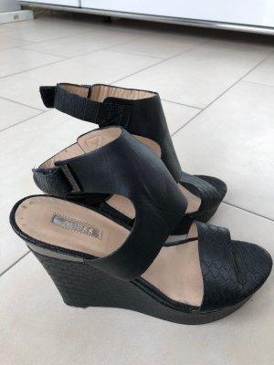 Guess Sandales à talons hauts et plateforme noir cuir