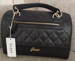 Guess kekoa box satchel tasche crossbody schwarz gold handtasche umhängetasche