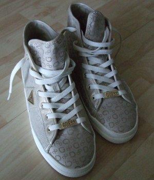 Guess Zapatillas altas beige fibra textil