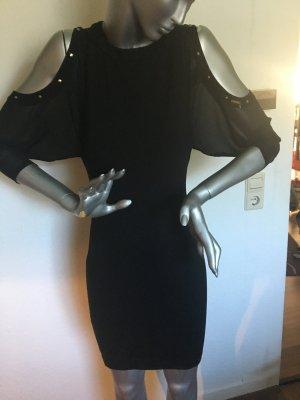GUESS Kleid schwarz mit Aussparungen an den Schultern Gr. XS