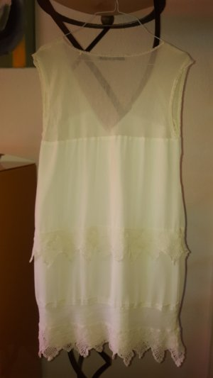 Guess Vestido de encaje blanco