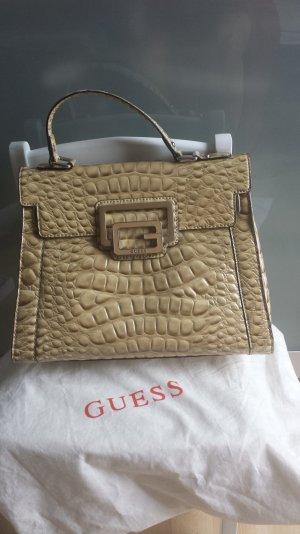 Guess Krokodil Muster Handtasche