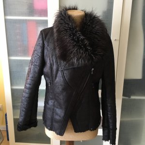 Guess Fake Fur Jacket black