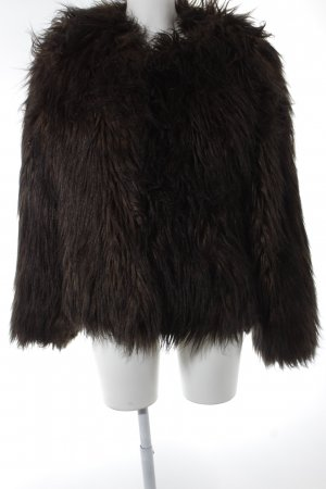 Guess Fake Fur Jacket olive green-black casual look
