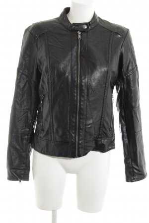 Guess Faux Leather Jacket black casual look