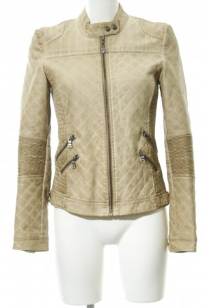 Guess Faux Leather Jacket beige simple style