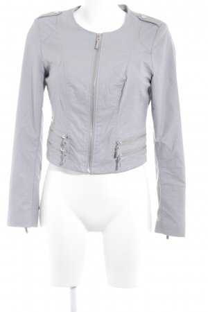 Guess Faux Leather Jacket light grey casual look