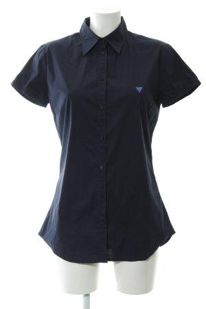 Guess Blusa de manga corta azul oscuro estilo clásico