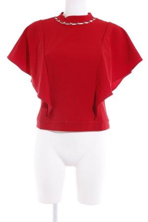 Guess Kurzarm-Bluse dunkelrot extravaganter Stil