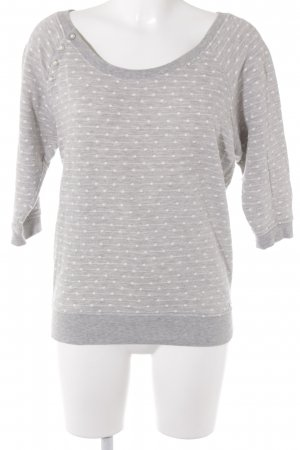Guess Short Sleeve Sweater light grey-white spot pattern casual look