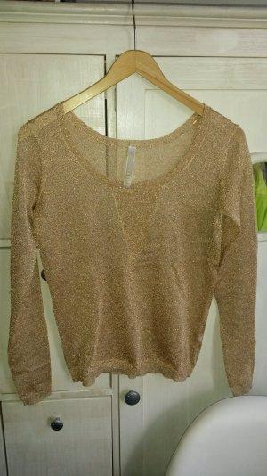 Guess L-Shirt Pullover gold metallic Gr.36 *wie neu*