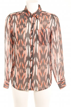 Guess Langarm-Bluse abstraktes Muster Casual-Look
