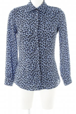 Guess Langarm-Bluse Leomuster Animal-Look