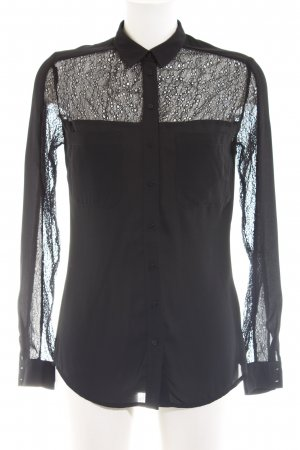 Guess Langarm-Bluse schwarz Casual-Look