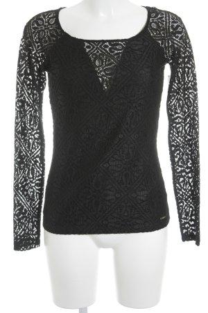 Guess Langarm-Bluse schwarz Elegant