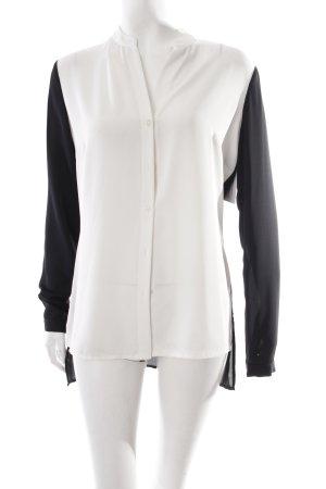 Guess Langarm-Bluse schwarz-weiß