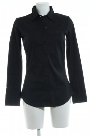 Guess Camisa de manga larga negro look casual