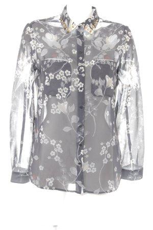 Guess Camisa de manga larga negro-crema estampado floral estilo extravagante